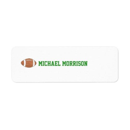 Football themed ID label