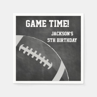 Football Themed Napkins | Paper Party Goods Disposable Napkin