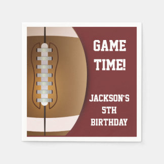 Football Themed Napkins | Paper Party Goods Paper Napkins