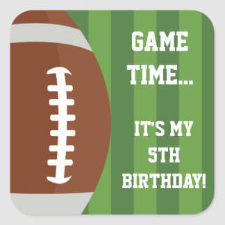 Football Themed Stickers   Birthday Party Ideas