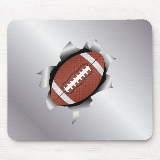 football thru metal sheet mousepad
