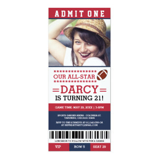 Football Ticket Birthday Invites