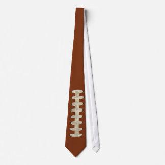 Football Tie, Brown, Laces Tie