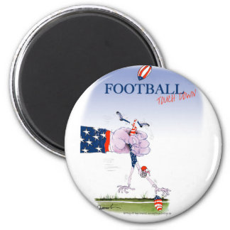 Football touch down, tony fernandes 2 inch round magnet