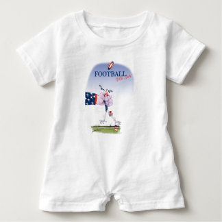 Football touch down, tony fernandes baby romper