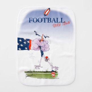 Football touch down, tony fernandes burp cloth