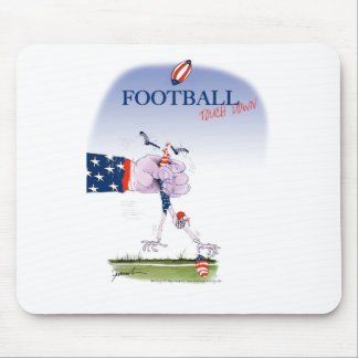 Football touch down, tony fernandes mouse pad