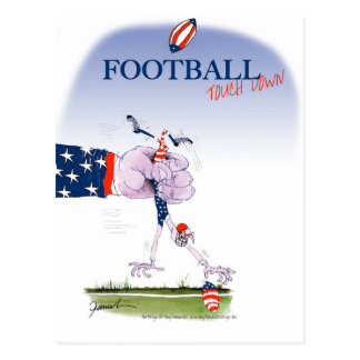 Football touch down, tony fernandes postcard