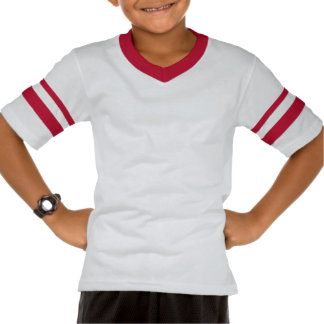 Football Touchdown Kids Game Day Party Red Tee Shirts