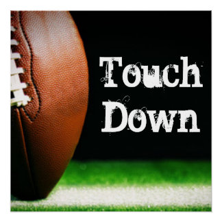 Football Touchdown Typography Perfect Poster