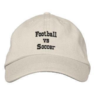 Football vs Soccer Baseball Cap