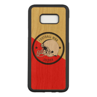 Football Warrior Carved Samsung Galaxy S8+ Case