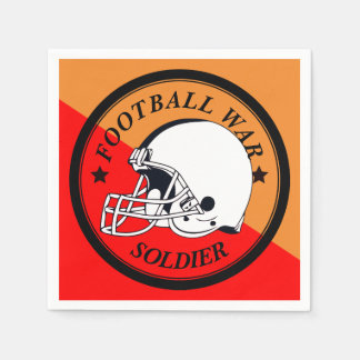 Football Warrior Disposable Napkins
