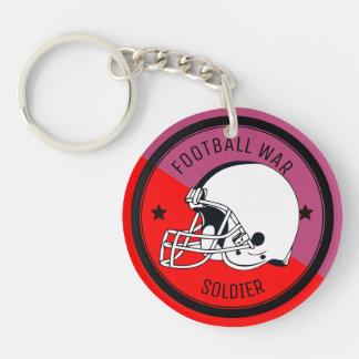 Football Warrior Keychain