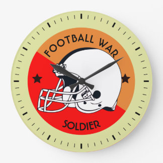 Football Warrior Large Clock
