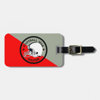 Football Warrior Luggage Tag
