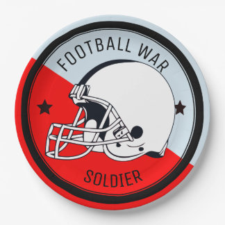 Football Warrior Paper Plate