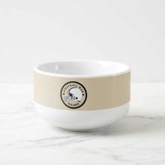Football Warrior Soup Mug