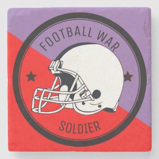 Football Warrior Stone Coaster