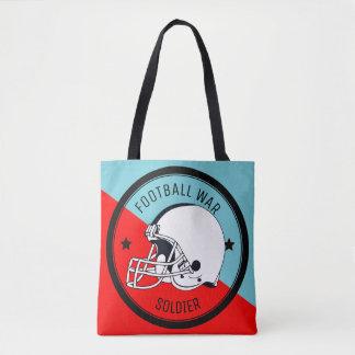 Football Warrior Tote Bag