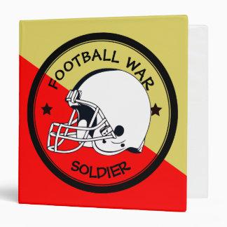 Football Warrior Vinyl Binder