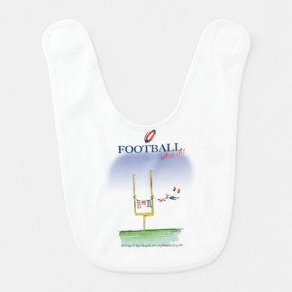 Football wash day, tony fernandes bib