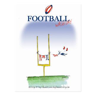 Football wash day, tony fernandes postcard
