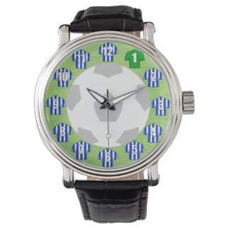 Football Watch - with Blue & White Shirts