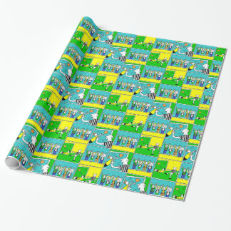 Footballers & Fans Wrapping Paper