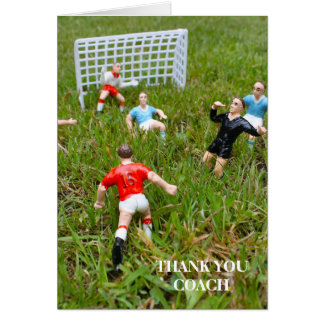 Footballers/Soccer Thank You Coach Greeting Card