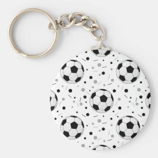 Footballs Basic Round Button Keychain