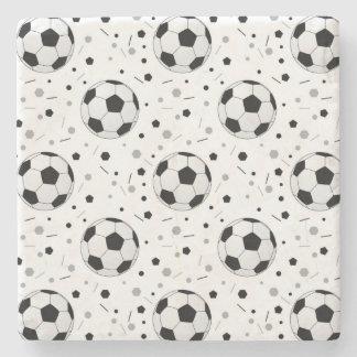 Footballs Stone Beverage Coaster