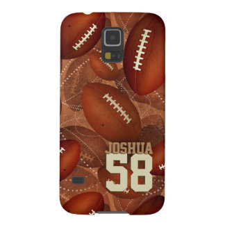 Footballz! sports pattern his name number cases for galaxy s5