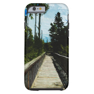 Footbridge Over Canyon Abstract Impressionism Tough iPhone 6 Case