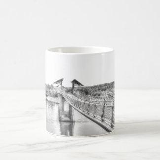 Footbridge over the North Saskatchewan River. Coffee Mug