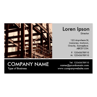 Footed Photo - Lt Gray - Steel Frame Construction Business Card Templates