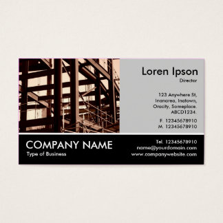 Footed Photo - Lt Gray - Steel Frame Construction Business Card