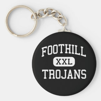 Foothill - Trojans - High - Bakersfield California Basic Round Button Keychain