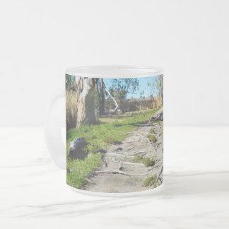 Footpath Of Nature Riverland Australia, Frosted Glass Coffee Mug
