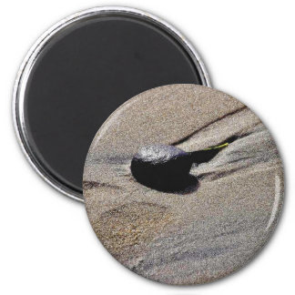 Footprint At Ocean Beach Magnet