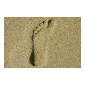 Footprint in the Sand Print
