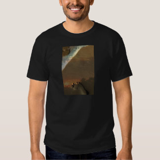 Footprint in the sand t-shirts