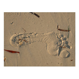 Footprint Postcard