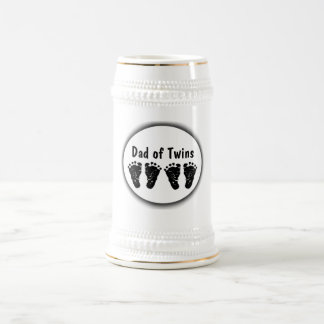 Footprints - Customize Text Beer Stein