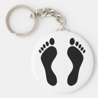 footprints feet keychain