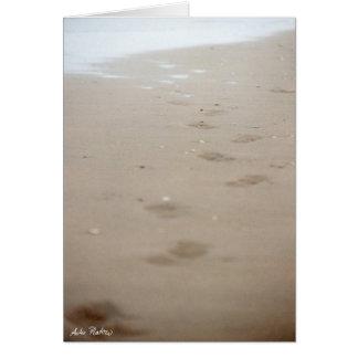 footprints - Fußspuren Card