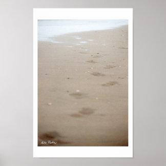 footprints - Fußspuren Poster