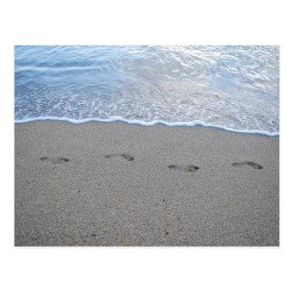 Footprints in Puerto Rico Postcard