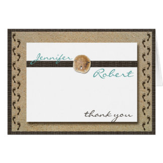 Footprints in the Sand Anniversary Thank You Card