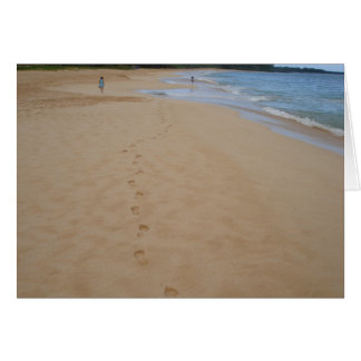 Footprints in the Sand Card